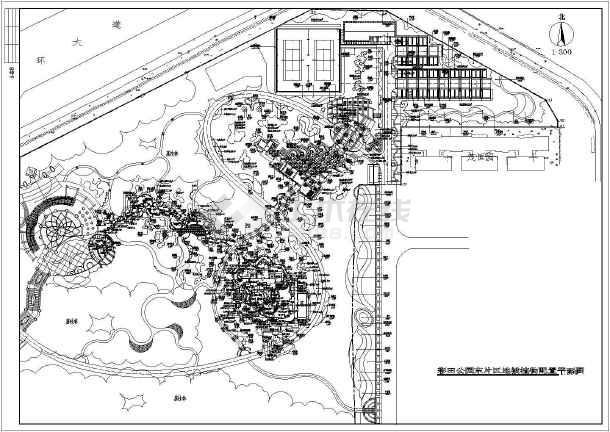 彩田公园东片区地被植物配置平面图和彩田公园东片区