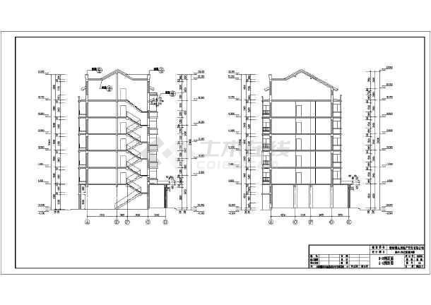 某6层底框砖混结构住宅楼建筑施工图(带阁楼)