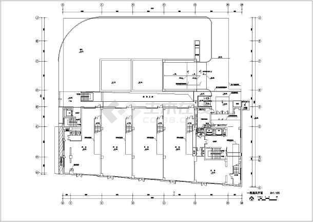 某单位七层框架结构办公楼暖通工程设计图