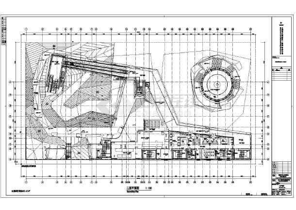 上海4层钢结构世博会德国馆4张建筑平面图和部分方案分析图