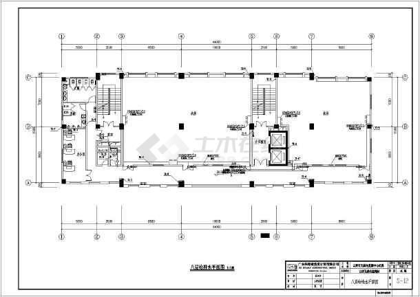 广东云浮市某11层框架结构无线电监测中心机房全套建筑给排水总平面图