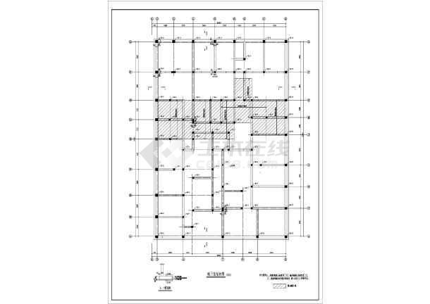 图纸 建筑结构图 砖混结构图纸 砖混结构住宅楼 某地区预制板小楼五层