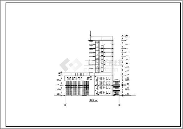 某地十层框架结构综合酒店建筑设计施工图纸