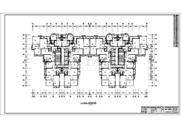 某图纸32层高层建筑给排水平面图消防管道布小区城市规划英语图片