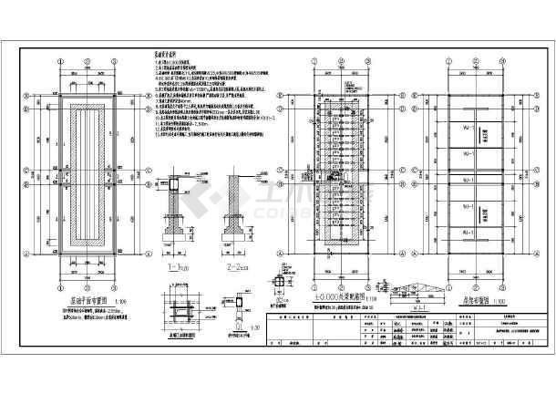 某学校室外砖混结构厕所建筑结构全套施工图