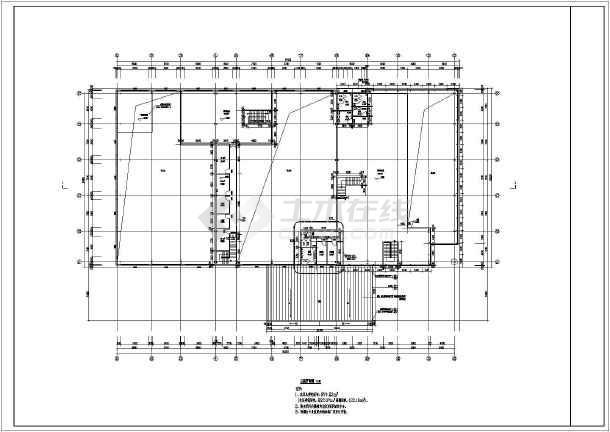 新疆某二层钢结构4s店建筑设计施工图