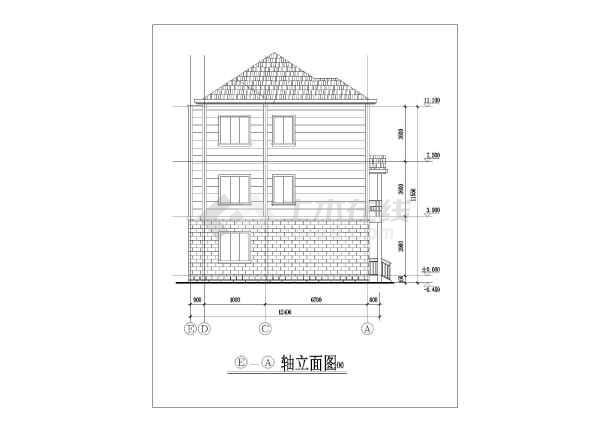 某地区三层框架结构农村住宅楼建筑设计方案