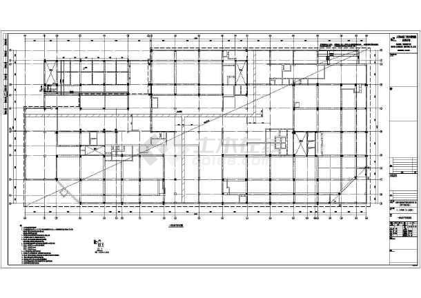 某高层住宅建筑地下室部分基础施工图图片