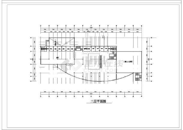 小型展览馆建筑设计图(含平面图,立面图,剖面图)图片