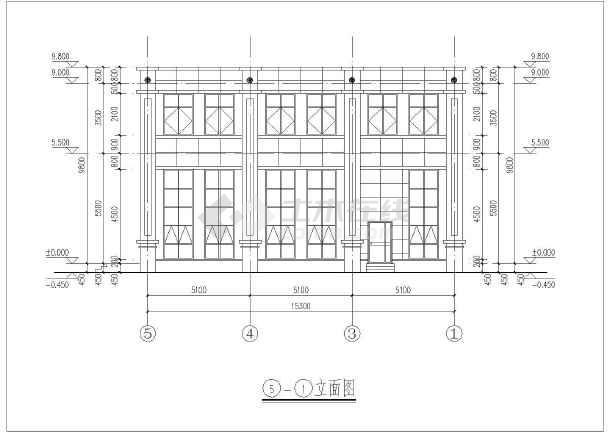 会议室等,立面采用简欧式风格,占地面积为240平方米,总建筑面积为480