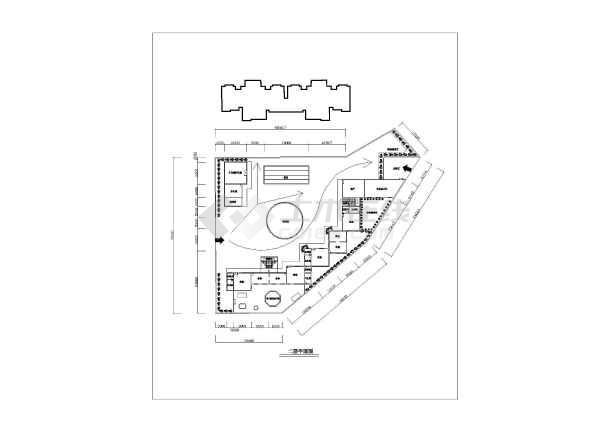 时尚现代幼儿园室内装修施工图(含效果),图纸内容包括:1-3层平面图