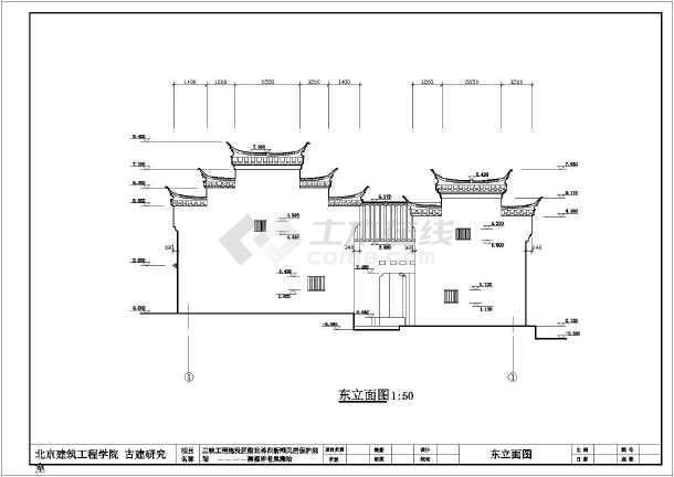 【湖北】某景观仿古建筑设计施工图图片