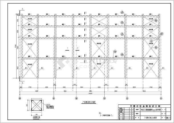 典型标线广告牌结构图(含v典型说明)_cad图纸下屋顶马路图纸图片