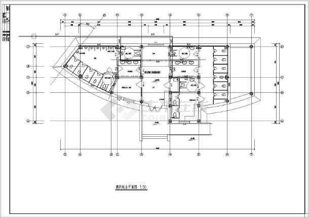 某地区公共厕所给排水设计施工图纸图纸矩形图片