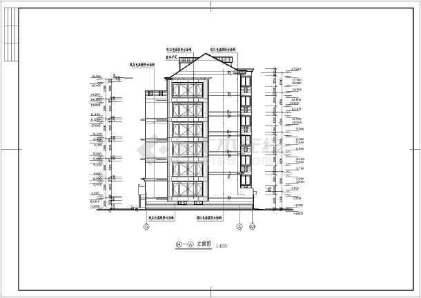 地上6层住宅楼建筑设计cad施工图(附地下车库)