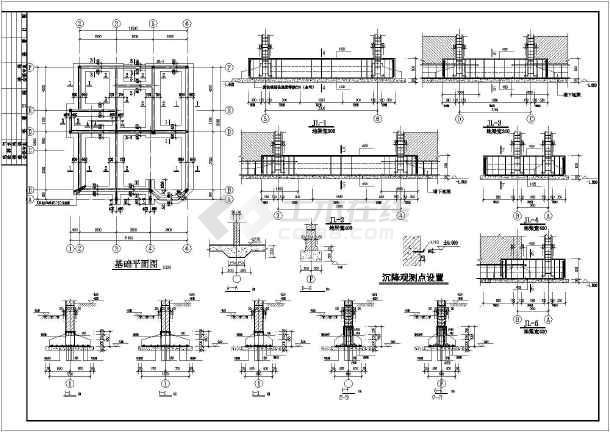 某新厂东大门建筑 结构设计施工图