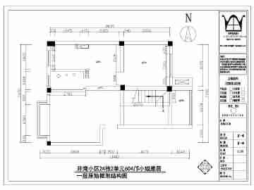 某地二层复式结构住宅装饰设计施工图图片