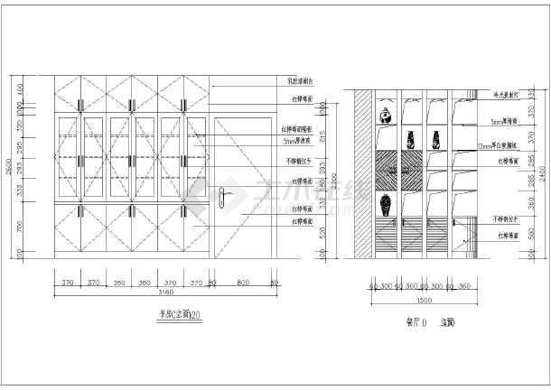 某三室两厅公寓楼室内设计装修施工图
