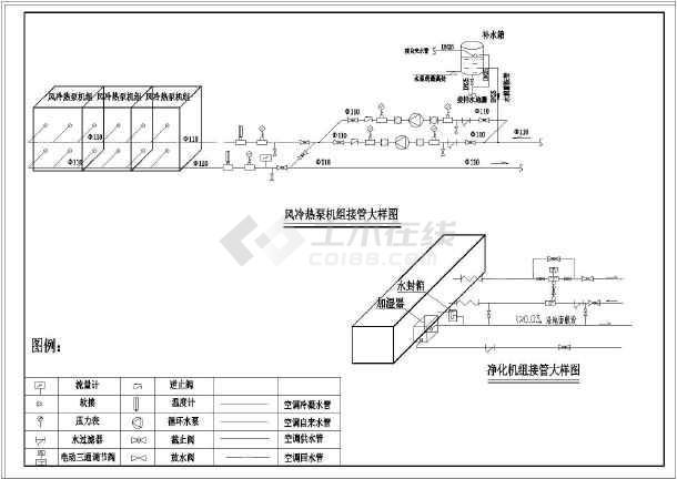 某小区高层框架结构空调水系统设计图图片