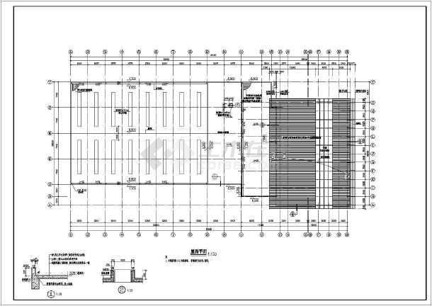 某地单层奥迪汽车4s店建筑设计方案图_cad图纸下载