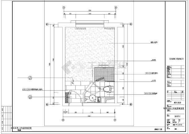 该图纸为北京多层框架结构酒店室内装修设计施工图,包括:一层平面布置