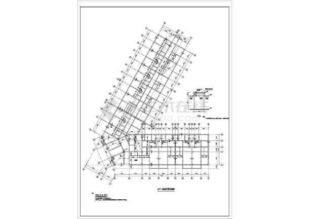 某转角型商住综合楼框架结构设计施工图