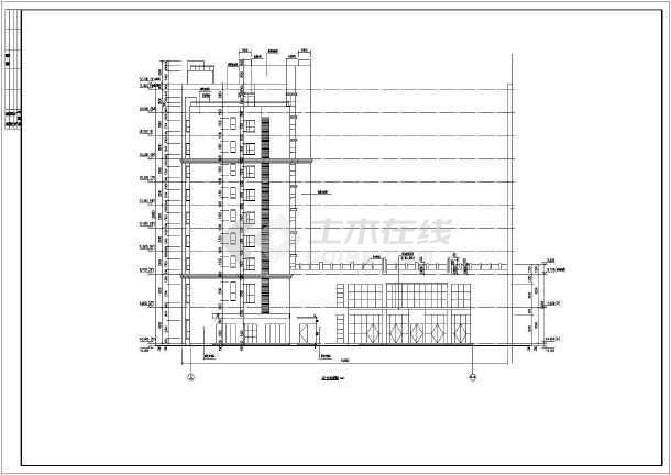 安阳9层混凝土剪力墙结构商住楼建筑施工图