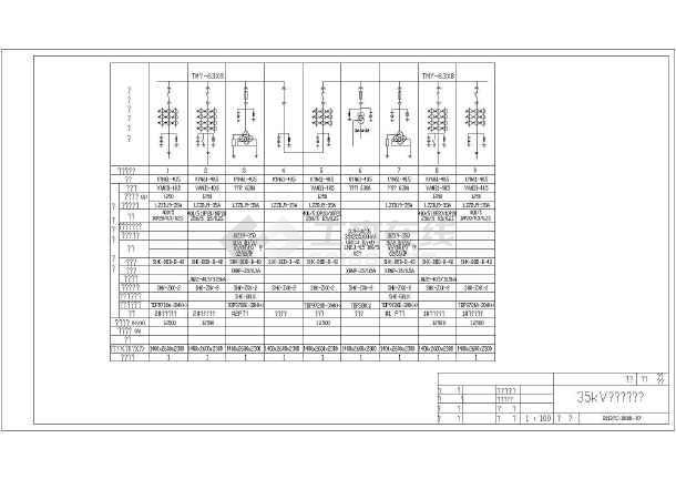 35kv/10kV图纸变电站电气v图纸方案图_cad箱式氟空调详细图纸图片