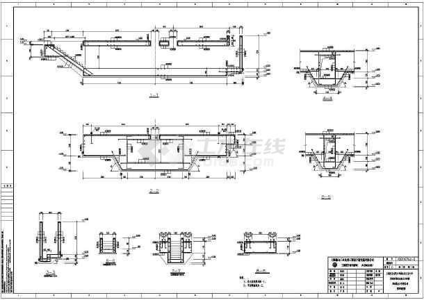 上海某焦化厂钢筋混凝土结构焦油氨水分离槽基础全套结构施工图