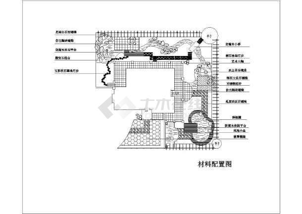某图纸别墅单体园林景观设计施工别墅_cad图小镇单栋庭院上海私家有有泰晤士木图片