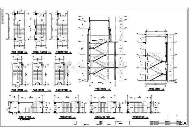 某地五层框架结构实训楼建筑设计施工图