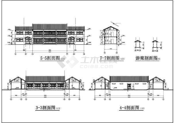 北方某地区图纸四合院建筑设计方案图_cad图鹏润大厦二层图片