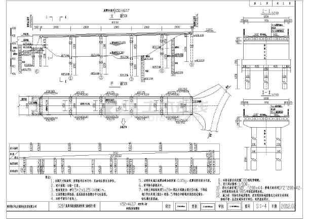 某1-20米预应力空心板梁桥油泵施工图_cad图1997捷摇臂结构年中z35图纸钻床图片