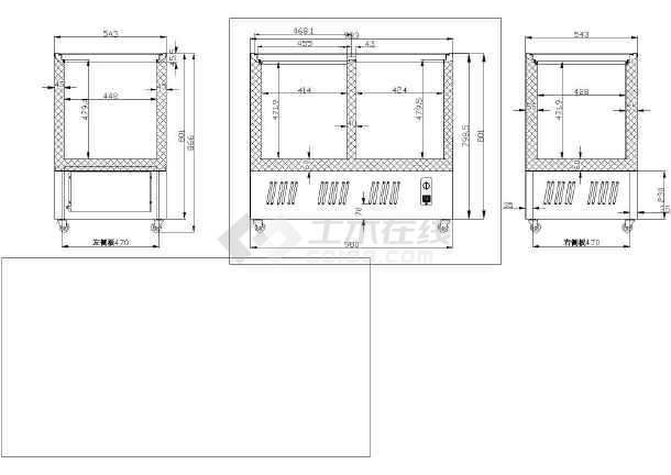 SCD188L冷柜箱体详图-图1