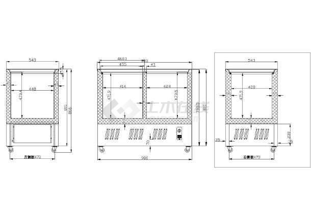 SCD188L冷柜箱体详图-图2