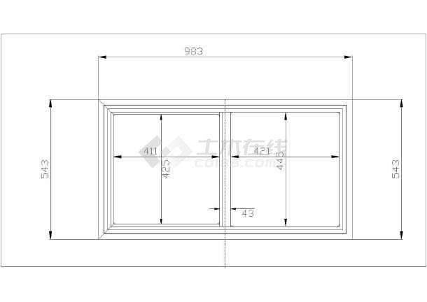 SCD188L冷柜箱体详图-图3