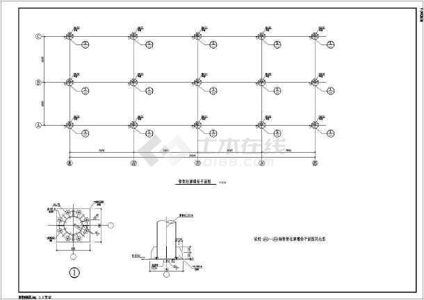 某水利码头工程钢结构管架结构布置图