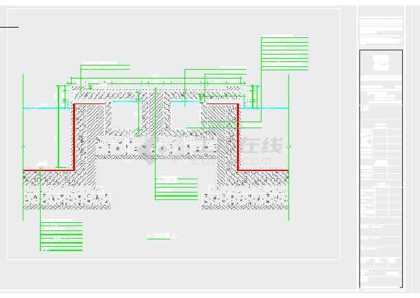 某景观跌水水池喷泉水循环系统施工图