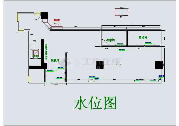 【武汉】某西餐厅商用厨房装修设计平面图