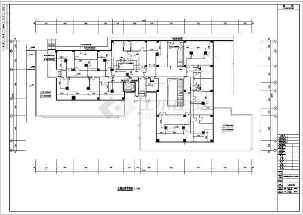 【佛山】某办公楼通风空调平面设计图