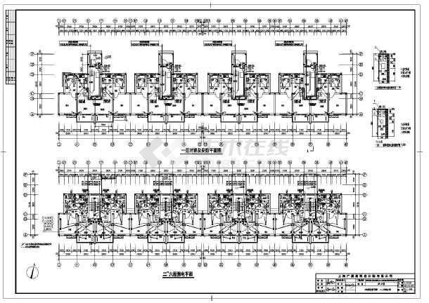 六层单元式住宅家用电气系统图及平面图