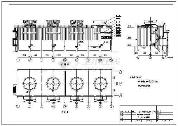 内容包括:钢混结构逆流式冷却塔,平,立,侧剖面图等内容,内容详实,可供