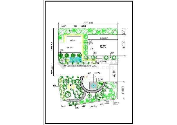 私人住宅庭院带菜地的景观绿化cad规划图纸