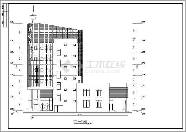 某地6层框架结构餐厅建筑方案设计图