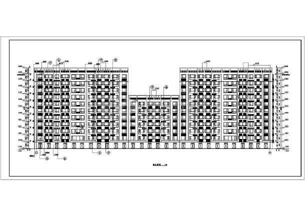 1层剪力墙结构单元式住宅建筑设计方案图
