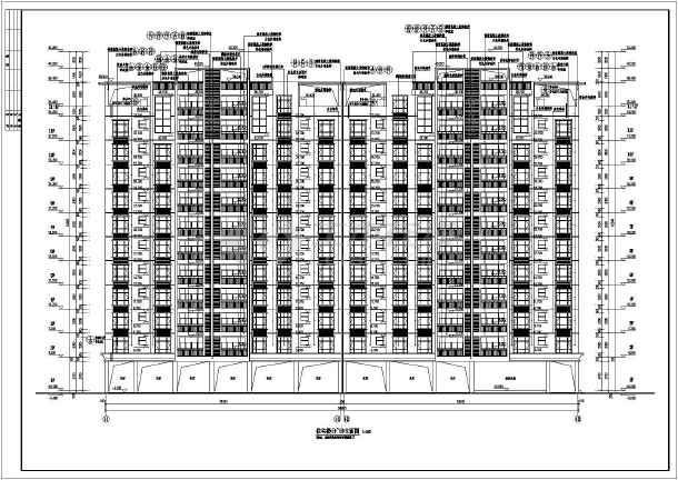 某地区十一层框架结构住宅楼建筑施工图(一梯四户)
