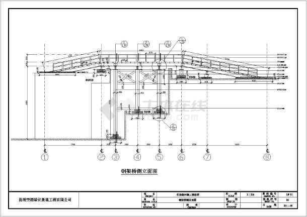 某公司设计飞机场临时钢架桥施工图纸