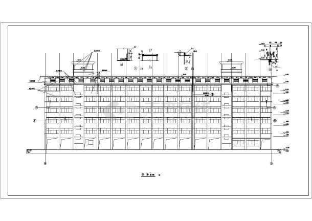 南宁某中学6层混凝土框架结构教学楼建筑施工图