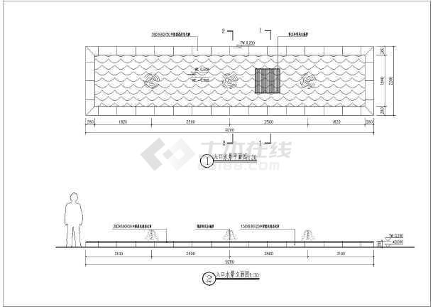 一组入口铭牌及两组园林水景的施工图图片3图片