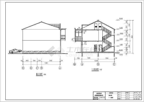 某地新农村二层别墅建筑和结构施工图